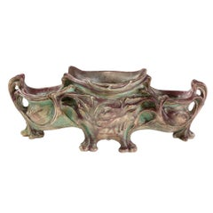 Hector Guimard Large Glazed Ceramic Planter