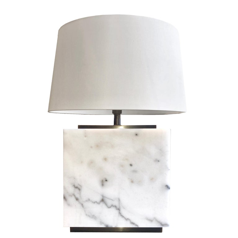 Hector White Marble Table Lamp For Sale At 1stdibs