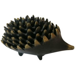 Hedgehog Ashtray Sculpture by Walter Bosse for Hertha Baller