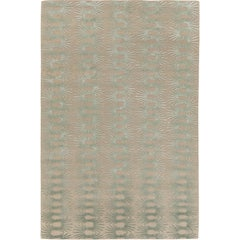 Hedgehog Sea Hand-Knotted 6x4 Floor Rug in Wool and Silk by Neisha Crosland