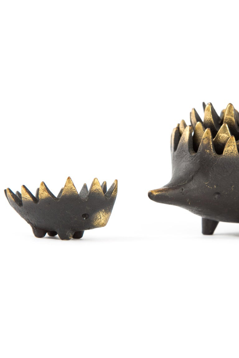Hedgehog with Her Kids Walter Bosse Blackened Brass with Hertha Baller For Sale 5