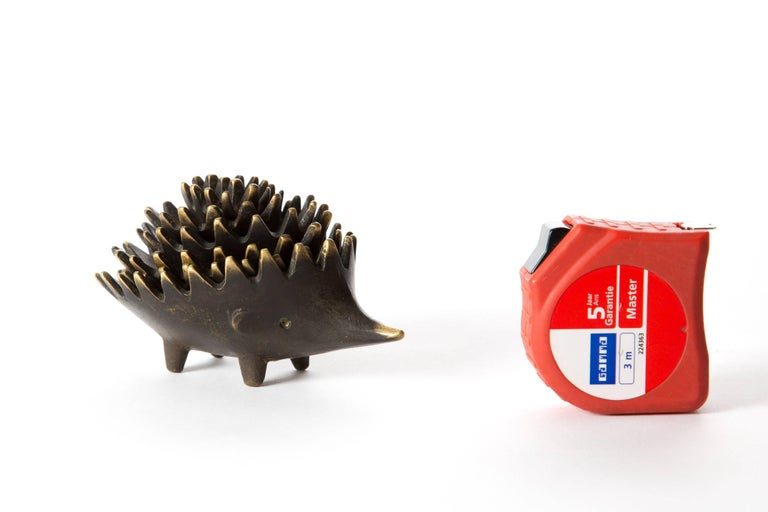 Hedgehog with Her Kids Walter Bosse Blackened Brass with Hertha Baller For Sale 3