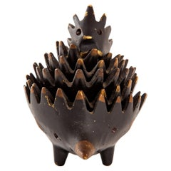 Hedgehog with Her Kids Walter Bosse Blackened Brass with Hertha Baller
