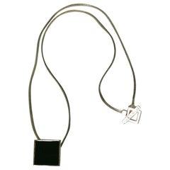 Hedi Slimane for Yves Saint Laurent Enamel Necklace