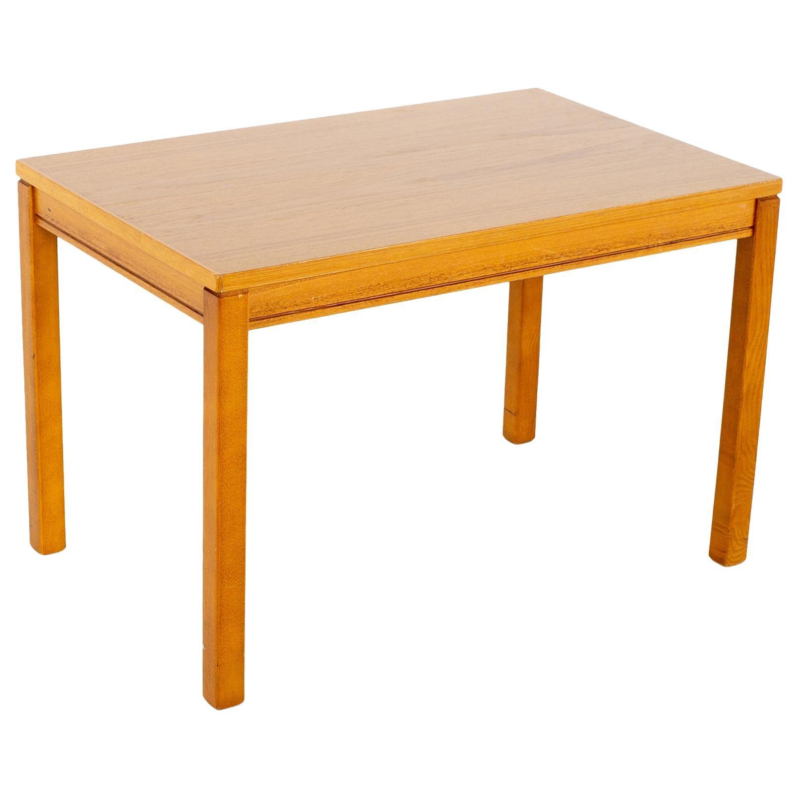 Heggen Mid Century Teak Side End Table