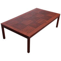 Heggen Scandinavian Modern Patchwork Rosewood Coffee Table