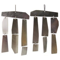 Heidi Abrahamson Brushed Sterling Silver Kinetic Earrings