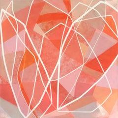 Flower Portrait (Dahlia) II, Painting, Acrylic on Canvas