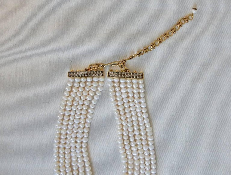 "Art Deco Heidi Daus ""Spectacular Belgian Disc"" XL Cultured Pearl Tassel Drop Necklace   For Sale"