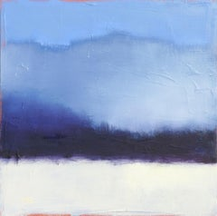 Blue Fog, Abstract Oil Painting