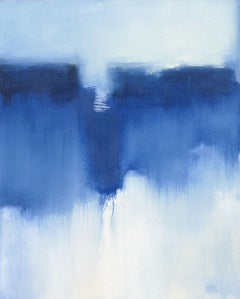 Blue Slide, Abstract Oil Painting