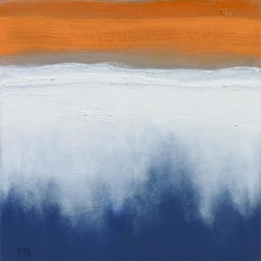 Falling Fog, Abstract Oil Painting
