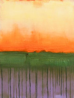 Fire Sky lll, Abstract Oil Painting