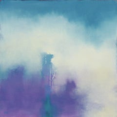Violet Fog, Abstract Oil Painting
