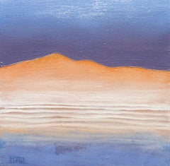 Warm Hill, Abstract Oil Painting