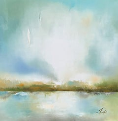 A Dawn of Wonder by Heidi Kirschner Large Framed Abstract Oil on Canvas Painting