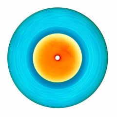 B Side Vinyl Collection, 1981 Blue - Contemporary Pop Art Color Photogrpahy