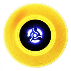 B Side Vinyl Collection, A (Canary Yellow)- Conceptual Pop Art Color Photogrpahy
