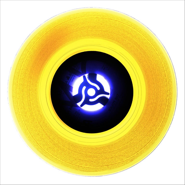 Heidler & Heeps Print - B Side Vinyl Collection, A (Canary Yellow)- Conceptual Pop Art Color Photogrpahy