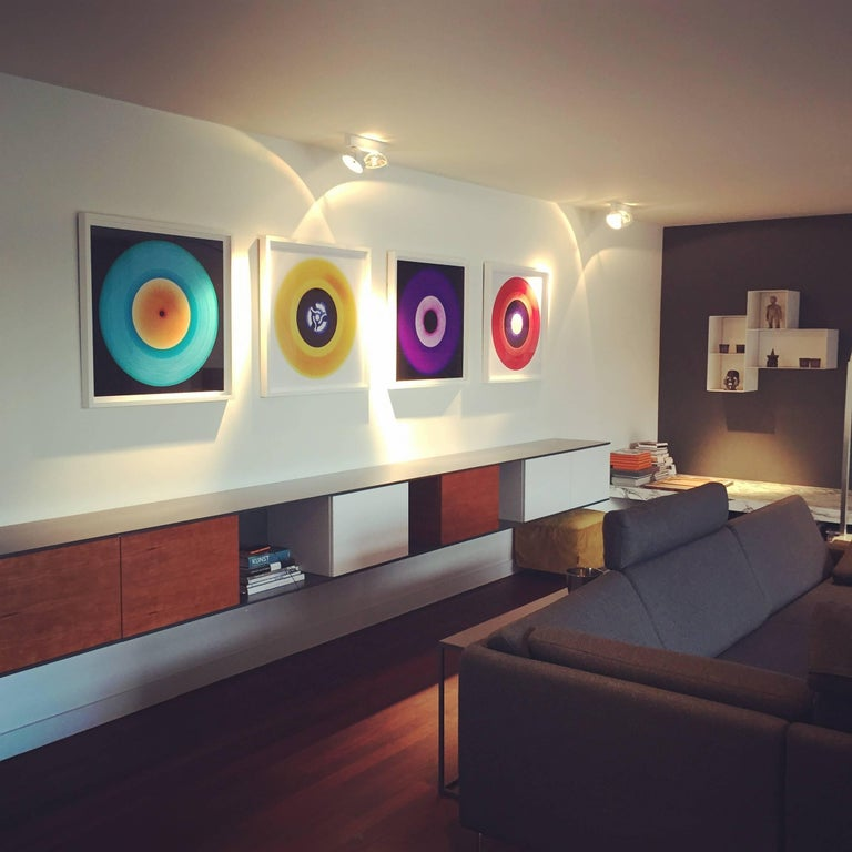 Cobolt, a royal blue artwork in the Heidler & Heeps B Side Vinyl Collection. Acclaimed contemporary photographers, Richard Heeps and Natasha Heidler have collaborated to make this beautifully mesmerising collection. A celebration of the vinyl record