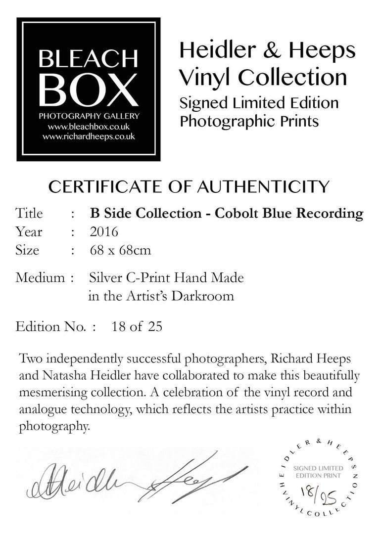 B Side Vinyl Collection, Cobolt Blue Recording - Pop Art Color Photography For Sale 2