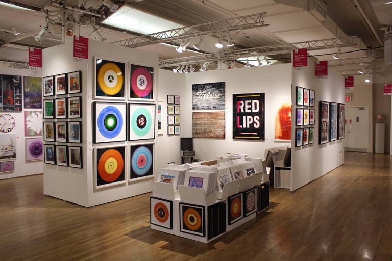 B Side Vinyl Collection, Cobolt Blue Recording - Pop Art Color Photography For Sale 5