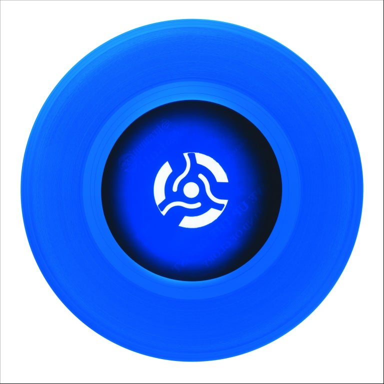 Heidler & Heeps Print - B Side Vinyl Collection, Cobolt Blue Recording - Pop Art Color Photography