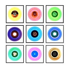 B Side Vinyl Collection Nine Piece Installation - Pop Art Color Photography