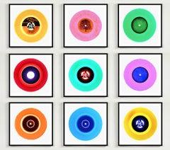 B Side Vinyl Collection Nine Piece Installation - Pop Art Multi-Color Photo