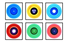 B Side Vinyl Collection Six Piece Installation - Pop Art Color Photography