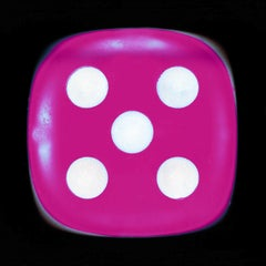 Dice Series, Pink Five - Conceptual Color Photography
