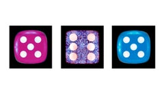 Dice Series - Five, Six, Five - Three Contemporary pop art color photography