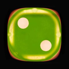 Dice Series, Green Two - Conceptual Color Photography