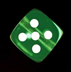 Dice Series, Green Five - Conceptual Color Photography