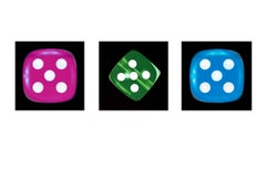 Dice Series - One, Three, Six - Three Contemporary pop art color photography
