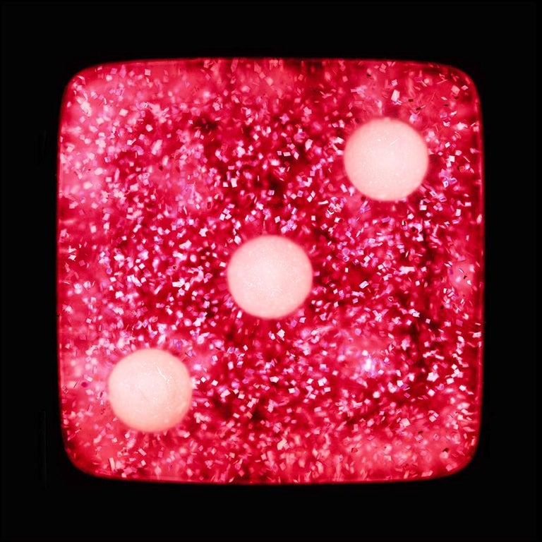 Dice Series - One, Two, Three - Three Contemporary pop art color photography - Pink Color Photograph by Heidler & Heeps