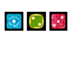 Dice Series - One, Two, Three - Three Contemporary pop art color photography
