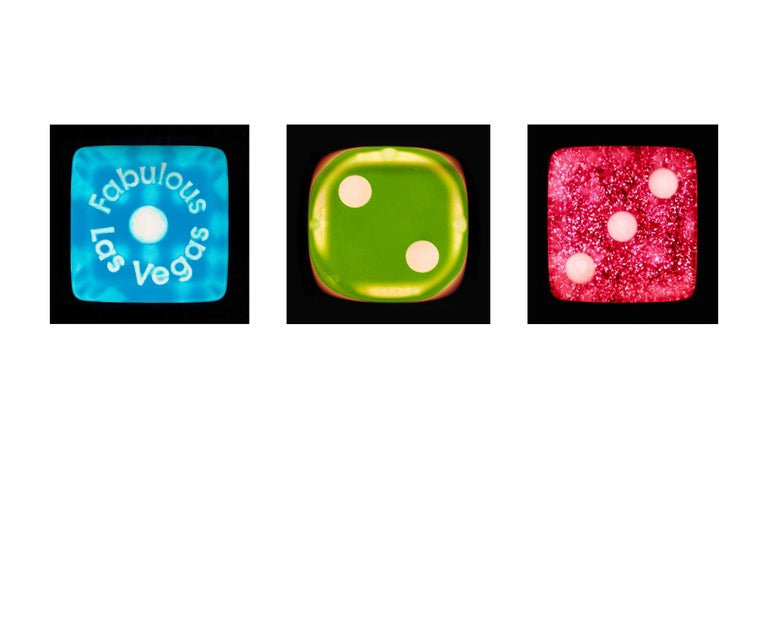 Heidler & Heeps Color Photograph - Dice Series - One, Two, Three - Three Contemporary pop art color photography