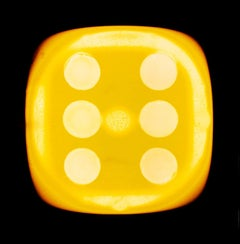 Dice Series, Chartreuse Yellow Six (black) - Conceptual Color Photography