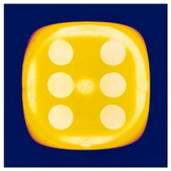 Dice Series, SIX (Chartreuse Yellow (inky) - Conceptual Color Photography