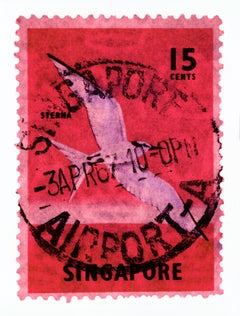 Singapore Stamp Collection, 15 Cents Singapore Sterna Bird Pink
