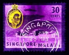 Singapore Stamp Collection, 30 Cents QEII Oil Tanker Purple