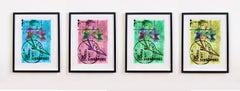 Singapore Stamp Collection, 30c Singapore Four - Floral color photo