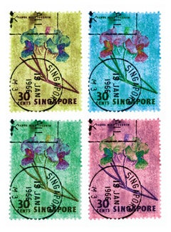 Singapore Stamp Collection, 30c Singapore Orchid (four-colour mosaic)