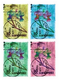Singapore Stamp Collection, 30c Singapore Orchid (four-colour mosaic)