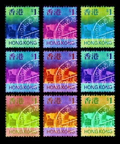 Stamp Collection - Eat, Sleep, HK$1, Repeat - Conceptual, Pop Art, Photography