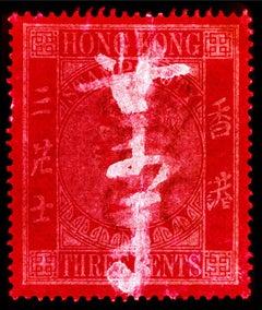 Stamp Collection, QV 3 cents - Pop Art Color Photography
