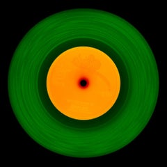 Vinyl Collection, 1981 (Green/Orange) - Conceptual, Pop-Art, Color Photography