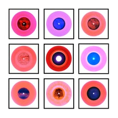 Vinyl Collection B Side Pop of Pink Installation - Pop Art Color Photography