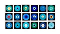 Vinyl Collection, Eighteen Piece Blues Installation - Pop Art Color Photography